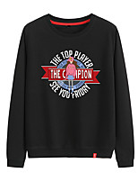 cheap -Women's Sweatshirt Pullover Sweatshirts Black White Pink Cartoon Person Cartoon Cute Sport Athleisure Pullover Long Sleeve Warm Soft Comfortable Everyday Use Causal Exercising General Use