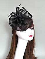 cheap -Headpieces Feathers / Net Fascinators / Hats / Headpiece with Feather / Cap 1 Piece Wedding / Party / Evening Headpiece