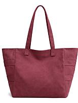 cheap -Women's Bags Canvas Top Handle Bag Zipper for Daily / Date White / Black / Fuchsia / Khaki / Sky Blue