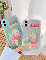 cheap -Case For Apple iPhone 7 8 7plus 8plus X XR XS XSMax SE(2020) iPhone 11 11Pro 11ProMax Shockproof Pattern Back Cover Word Phrase Cartoon TPU