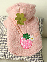 cheap -Dog Coat Floral / Botanical Casual / Daily Cute Casual / Daily Winter Dog Clothes Warm Pink Costume Polyster XS S M L XL