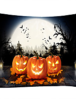 cheap -Halloween Party Wall Tapestry Art Decor Blanket Curtain Picnic Tablecloth Hanging Home Bedroom Living Room Dorm Decoration Pychedelic kull keleton Pumpkin Bat Witch Moon Night Polyeter