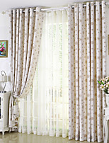 cheap -Two Panel Children's Room Cartoon Style Snowflake Jacquard Curtains Living Room Bedroom Dining Room Curtains