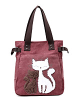 cheap -Women's Bags Canvas Top Handle Bag Zipper for Daily / Date Black / Blushing Pink / Fuchsia / Khaki