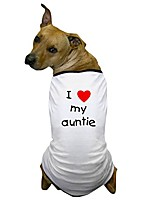 cheap -i love my auntie dog t shirt dog t-shirt, pet clothing, funny dog costume