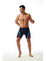 cheap -Men's Swim Shorts Nylon Swimwear Quick Dry Drawstring - Swimming Diving Surfing Patchwork Autumn / Fall Spring Summer / High Elasticity