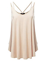 cheap -women& #39;s loose fit flowy v neck sexy pleated cami tank top with plus size oyster 3x