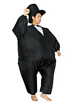 cheap -Magician Cosplay Costume Inflatable Costume Funny Costume Adults' Men's Cosplay Halloween Halloween Festival / Holiday Fabric Black Men's Women's Easy Carnival Costumes