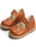 cheap -kids gril's oxford shoes strap school uniform dress mary jane flats cutout footwear (toddler/little kid) (12 m us little kid, brown)