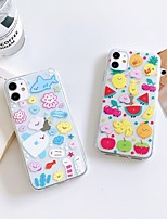 cheap -Apple Case For iPhone7 8 7plus 8plus  XR XS XSMAX  X SE 11 11Pro 11ProMax Transparent Pattern Back Cover Food Animal Cartoon TPU