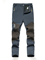 cheap -Men's Hiking Pants Softshell Pants Winter Outdoor Standard Fit Thermal / Warm Fleece Lining Breathable Warm Pants / Trousers Bottoms Black Army Green Grey Hunting Fishing Climbing S M L XL XXL
