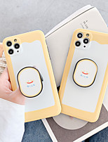 cheap -Case For Apple iPhone 11 / iPhone 11 Pro / iPhone 11 Pro Max Ring Holder / IMD / Frosted Back Cover Word / Phrase / Cartoon TPU