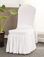 cheap -2 Pcs Stretchy Universal Easy Fitted Dining Chair Cover Slipcovers with Skirt, Removable Washable Anti-Dirty Furniture Protector for Kids Pets Home Ceremony Banquet Wedding Party