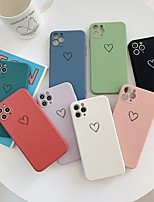 cheap -Case For iPhone7 8 7plus 8plus XR XS XSMAX X SE 11 11Pro 11ProMax Pattern Back Cover Heart TPU