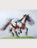cheap -IARTS Hand Painted Galloping Oil Painting with Stretched Frame For Home Decoration With Stretched Frame