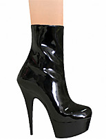 cheap -Women's Boots Pumps Round Toe Sexy Party & Evening Lace-up Solid Colored PU Booties / Ankle Boots Black / Gray