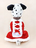 cheap -christmas dog dress cute pet costumes pet apparel for small dogs