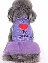 cheap -sisave dog girls dot lace skirt,small medium pet i love my mommy printed dress clothes & #40;large, purple& #41;