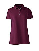 cheap -cs women short sleeve polyester polo shirt burgundy regular small
