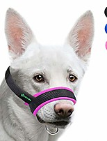 cheap -dog muzzle with fabric for small, medium and large dogs, anti biting, chewing, adjustable neck, breathable(pink)
