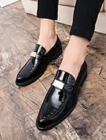cheap -Men's Summer Daily Loafers & Slip-Ons PU Black