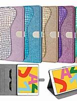 cheap -Case For Apple iPad Mini 3/2/1 iPad Mini 4 iPad Mini 5 Wallet Card Holder with Stand Full Body Cases Laser Glitter PU Leather TPU