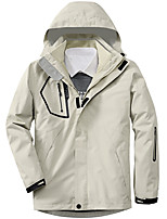 cheap -Men's Hiking Jacket Winter Outdoor Thermal Warm Windproof Breathable Soft Jacket 3-in-1 Jacket Winter Jacket Camping / Hiking Hunting Climbing White / Black / Army Green / Grey / Dark Blue