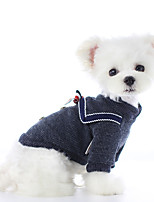 cheap -Dog Coat Sweater Bowknot Casual / Daily Cute Casual / Daily Winter Dog Clothes Warm Pink Gray Costume Cotton XS S M L XL