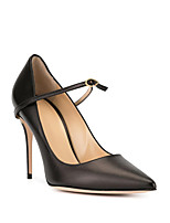 cheap -Women's Heels Stiletto Heel Pointed Toe Casual Basic Daily Solid Colored PU Walking Shoes Light Brown / Black / Gray