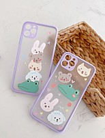 cheap -Case For Apple iPhone 7 8 plus SE 2020 X XS XR XS max  11 11 Pro 11 Pro Max Pattern Back Cover  Cartoon TPU Embossed cute LOVELY BEAR RABBIT animal