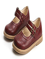 cheap -toddlers girls princess old school style ankle straps hook-and-loop mary janes dressy shoes burgundy size 10 m