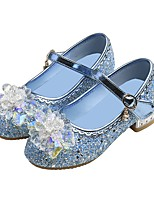 cheap -Girls' Flats Flower Girl Shoes Microfiber Little Kids(4-7ys) / Big Kids(7years +) Walking Shoes Crystal Blue / Pink / Silver Spring / Fall