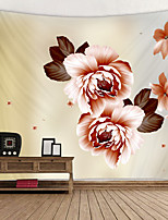 cheap -Painted big flowers Digital Printed Tapestry Decor Wall Art Tablecloths Bedspread Picnic Blanket Beach Throw Tapestries Colorful Bedroom Hall Dorm Living Room Hanging