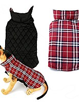 cheap -water resistent windproof reversible plaid dog vest for cold weather,winter coat warm dog apparel for small medium large dogs