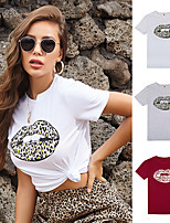 cheap -Women's Tee / T-shirt Artistic Style Crew Neck Cartoon Cute Sport Athleisure T Shirt Short Sleeves Breathable Soft Comfortable Everyday Use Exercising General Use