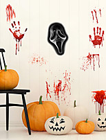 cheap -Halloween Funny Face Wall Stickers Decorative Wall Stickers, PVC Home Decoration Wall Decal Wall Decoration / Removable