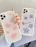 cheap -Case For Apple iPhone 7 8 plus SE 2020 X XS XR XS max  11 11 Pro 11 Pro Max Pattern Back Cover  flower TPU cute LOVELY