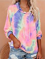cheap -Women's Pullover Hoodie Sweatshirt Tie Dye Basic Hoodies Sweatshirts  Blue Blushing Pink