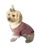 cheap -Dog Coat Solid Colored Casual / Daily Cute Casual / Daily Winter Dog Clothes Warm Pink Brown Costume Plush S M L XL XXL