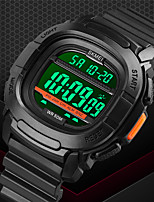 cheap -SKMEI Men's Sport Watch Digital Modern Style Stylish Outdoor Calendar / date / day Digital Black Blue Green / One Year / Silicone / Chronograph / Dual Time Zones / Stopwatch