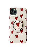 cheap -Case For Apple iPhone 7 plus 8 plus XR XS XS MAX X SE 11 11Pro 11ProMax Pattern Back Cover  TPU with Stand Heart