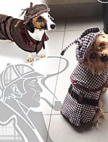 cheap -sherlock holmes dog costume - famous, multi-colored, size large