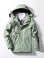 cheap -Men's Hiking Windbreaker Winter Outdoor Thermal Warm Windproof Breathable Warm 3-in-1 Jacket Ski / Snowboard Winter Sports Outdoor White / Black / Grey / Light Green