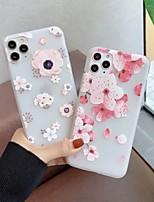cheap -Case For iPhone 5 5C 5S SE 6 6s 7 8 6plus 6splus 7plus 8plus X XR XS XSMax SE(2020) iPhone 11 11Pro 11ProMax Ultra-thin Transparent Pattern Back Cover Flower TPU
