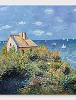 cheap -IARTS Hand Painted Sea house Oil Painting with Stretched Frame For Home Decoration With Stretched Frame
