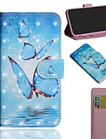 cheap -Case For Nokia 1.3 Nokia 2.3 Nokia 5.3 Wallet Card Holder with Stand Full Body Cases Three Butterflies PU Leather TPU for Nokia 3.2 Nokia 7.2 Nokia 2.2 Nokia 4.2 Nokia 1 Plus