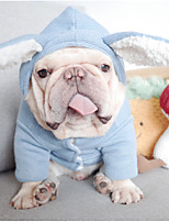 cheap -Dog Coat Hoodie Pajamas Rabbit / Bunny Casual / Daily Cute Casual / Daily Winter Dog Clothes Warm Red Blue Costume Cotton S M L XL XXL