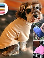 cheap -2019 dog pullover sweatshirt autumn winter cold weather dog t-shirts for small medium large size dogs miniature schnauzer shih tzu clothes green