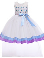 cheap -Elsa Dress Cosplay Costume Girls' Movie Cosplay Vacation Dress Halloween Blue Dress Christmas Halloween Carnival Polyester / Cotton