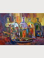 cheap -Hand-Painted Abstract Wines Painting Canvas Art  Painting Abstract Still Life Acrylic Painting Modern Art Textured Art  with Stretcher Ready to Hang With Stretched Frame
